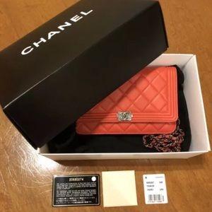 Chanel Le Boy Wallet Crossbody Evening Clutch Bag